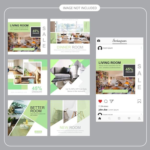 Modelo de postagem - imobiliário social media Vetor Premium