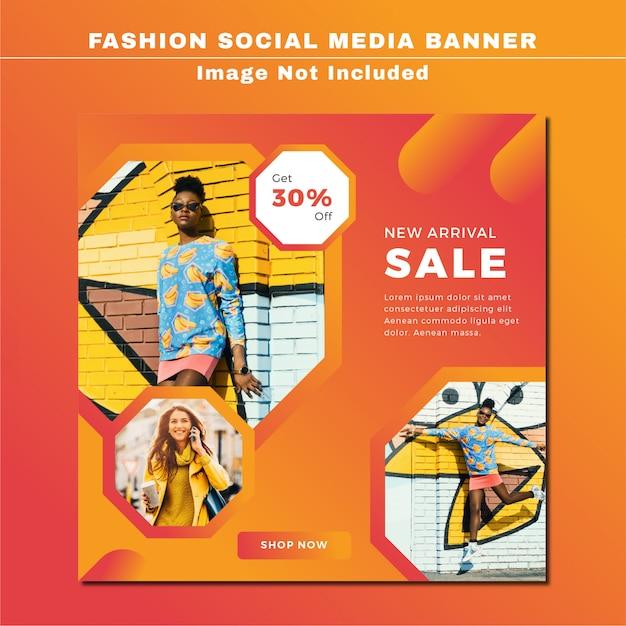 Modelo de postagem - mídia social de venda Vetor Premium
