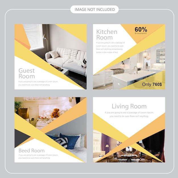 Modelo de postagem - social media Vetor Premium
