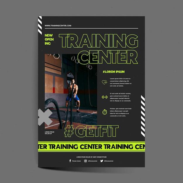 Modelo de pôster do centro de treinamento Vetor grátis