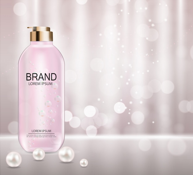 Modelo de produto de cosméticos Vetor Premium