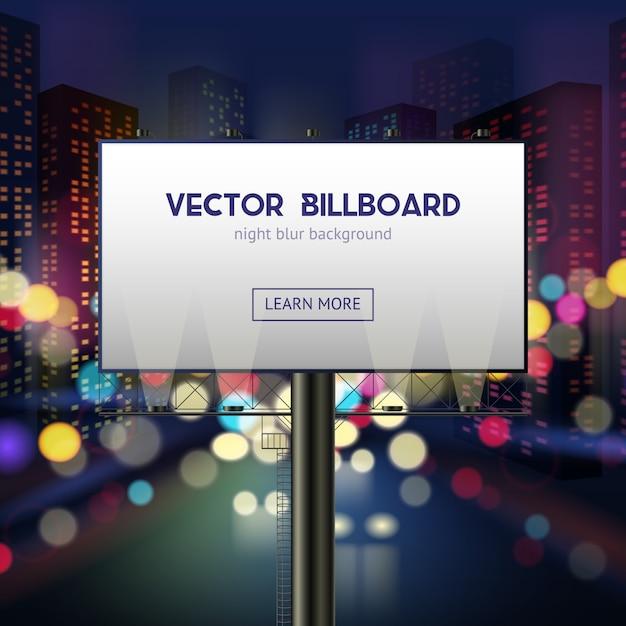 Modelo de publicidade em cartaz Vetor grátis