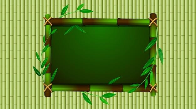 Modelo de quadro com babmoo verde Vetor grátis