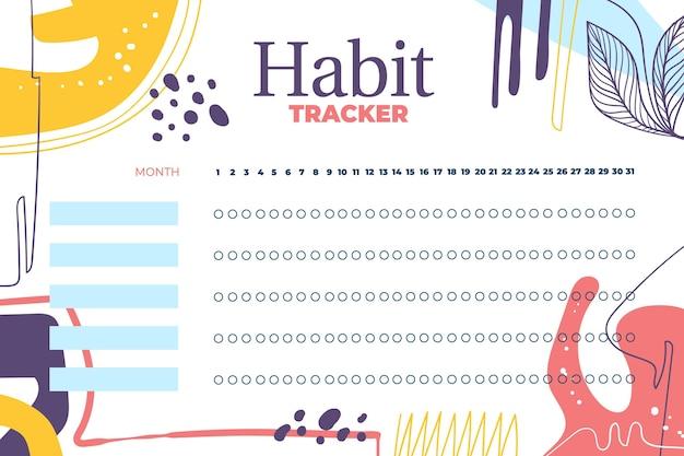 Modelo de rastreador de hábitos Vetor grátis