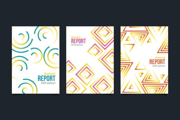 Modelo de relatório anual abstrato colorido Vetor grátis