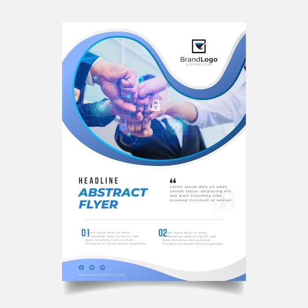 Modelo de relatório anual abstrato Vetor Premium
