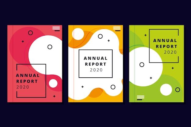 Modelo de relatório anual colorido e moderno Vetor grátis