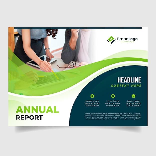Modelo de relatório anual corporativo Vetor grátis