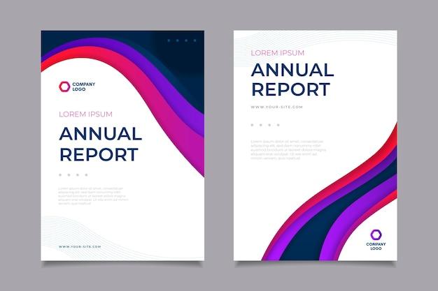 Modelo de relatório anual Vetor grátis