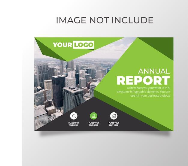 Modelo de relatório anual Vetor Premium