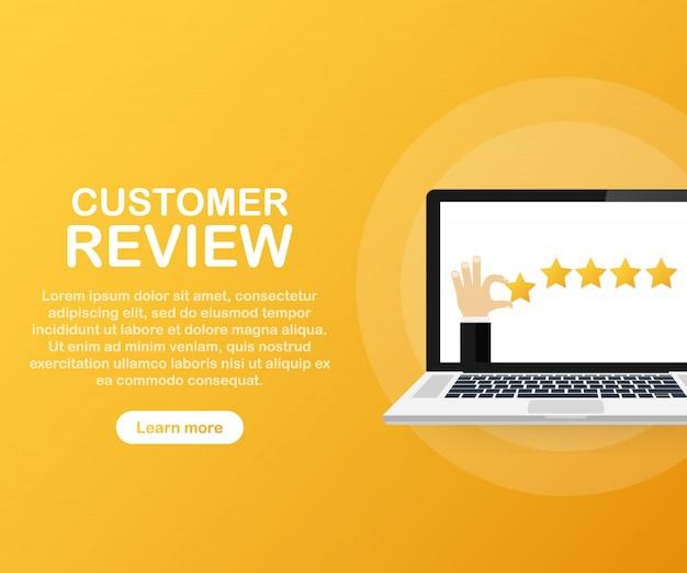 Modelo de revisão do cliente Vetor Premium
