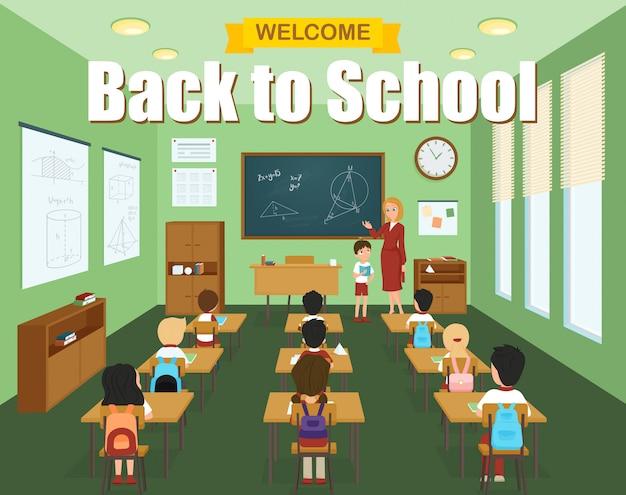 Modelo de sala de aula da escola Vetor grátis