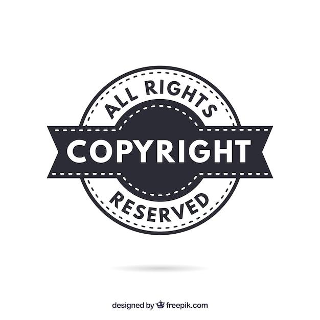 Modelo de símbolo de direitos autorais moderno Vetor grátis