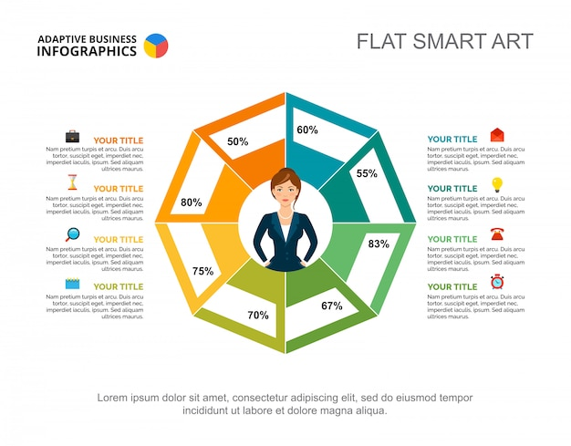 Modelo de slide de gráfico de pesquisa de negócios. gráfico. conceito criativo para infográfico, relatório Vetor grátis