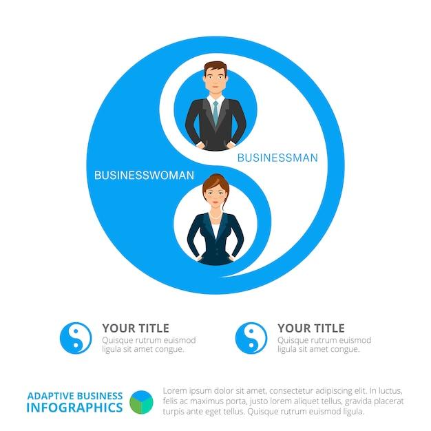 Modelo de slide infográficos de negócios Vetor grátis