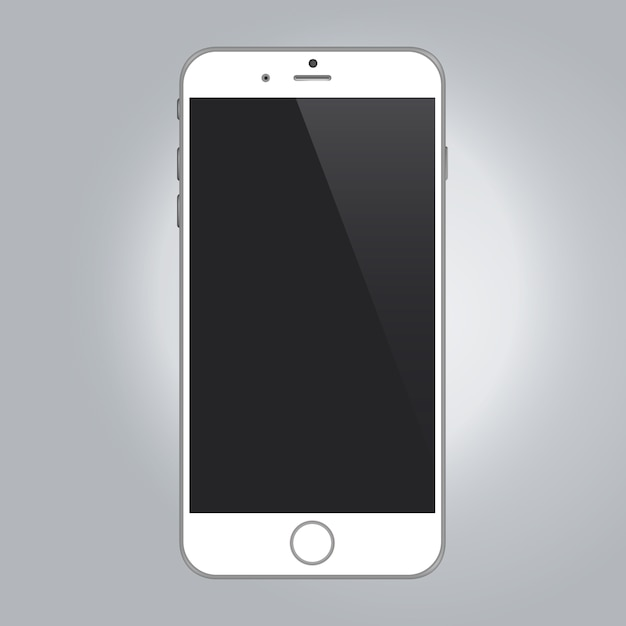 Modelo de telefone móvel Vetor grátis