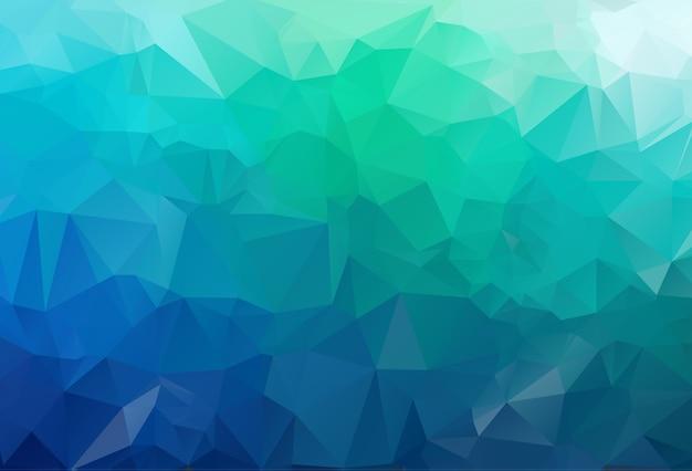 Modelo de triângulo embaçado verde vetor. Vetor Premium