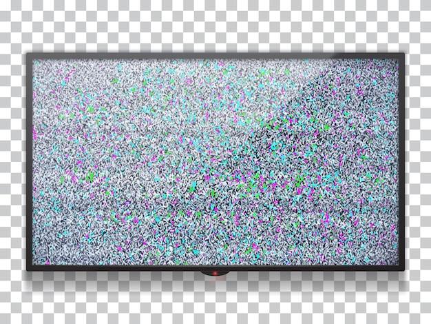 Modelo de tv plana lcd realista Vetor Premium