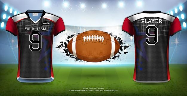 Modelo de uniformes de camisas de futebol. Vetor Premium