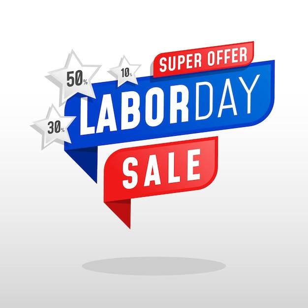Modelo de venda do dia do trabalho Vetor Premium