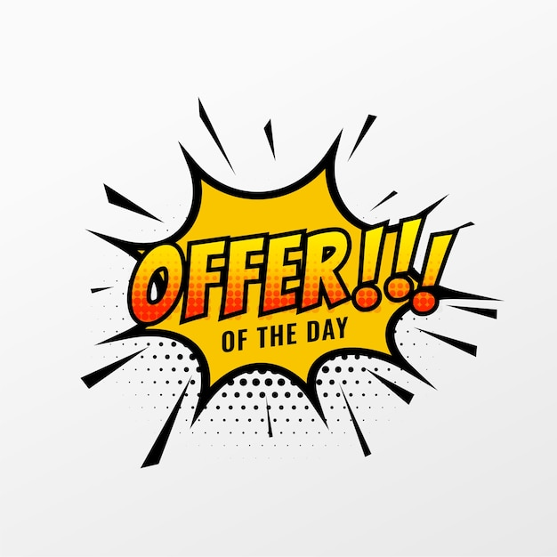 Modelo de venda e oferta para promoção de negócios Vetor grátis
