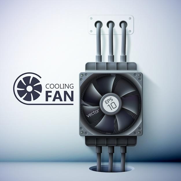 Modelo de ventilação de refrigeração Vetor grátis