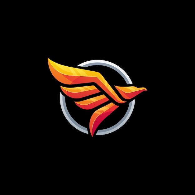 Modelo de vetor abstrato conceito águia Vetor Premium
