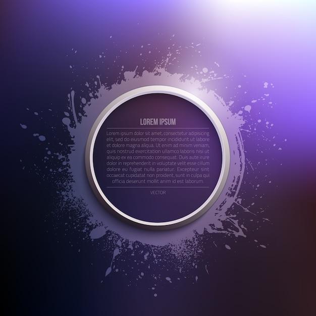 Modelo de vetor abstrato moderno grunge Vetor Premium
