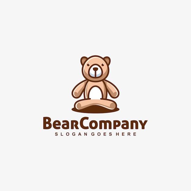 Modelo de vetor brincalhão de boneca de urso Vetor Premium