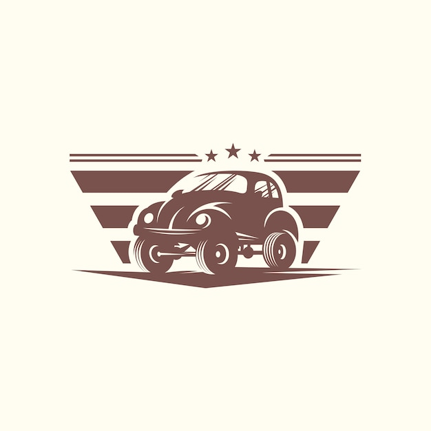 Modelo de vetor de design de logotipo de carro clássico Vetor Premium