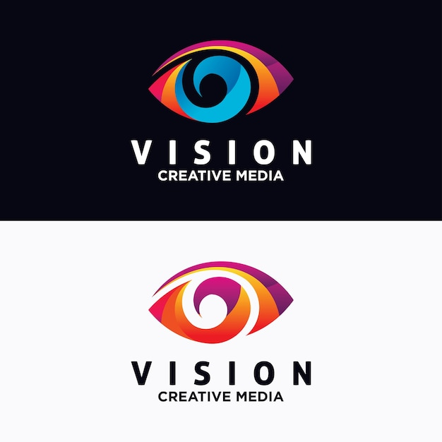 Modelo de vetor de design de logotipo de olho Vetor Premium