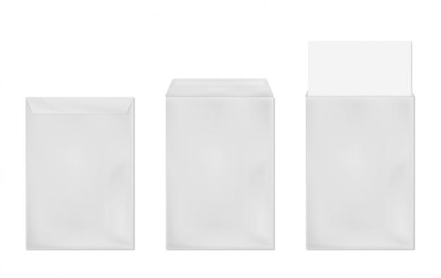 Modelo de vetor de envelope branco Vetor grátis