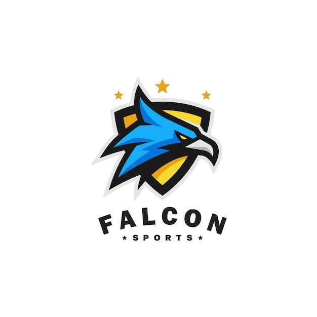 Modelo de vetor de esportes de cabeça de águia Vetor Premium