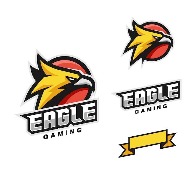 Modelo de vetor de estilo de cabeça de águia Vetor Premium