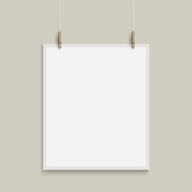 Modelo de vetor de folha de papel Vetor Premium
