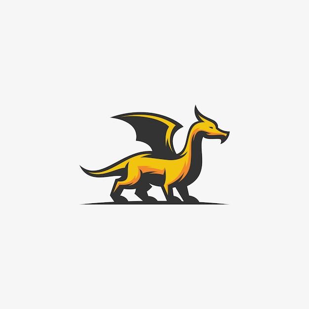 Modelo de vetor de ilustração abstrata do dragão Vetor Premium