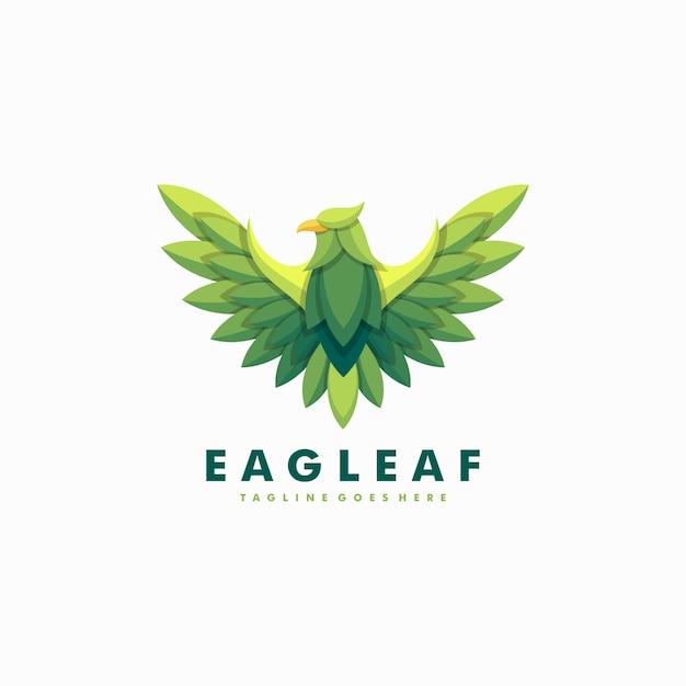 Modelo de vetor de ilustração de folhas de águia Vetor Premium