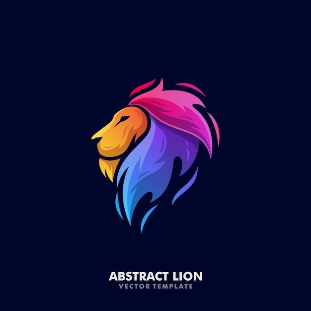 Modelo de vetor de ilustração de leão Vetor Premium