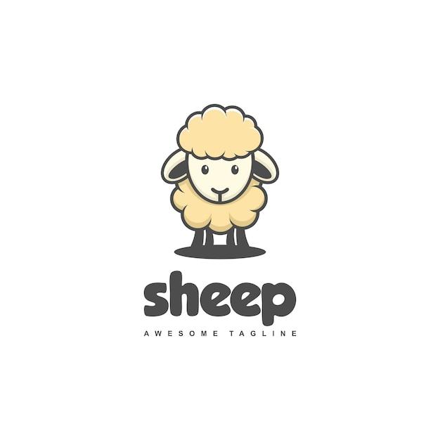 Modelo de vetor de ilustração de ovelhas conceito Vetor Premium