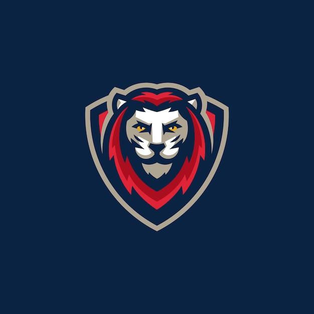 Modelo de vetor de ilustração do esporte leão equipe gaming Vetor Premium
