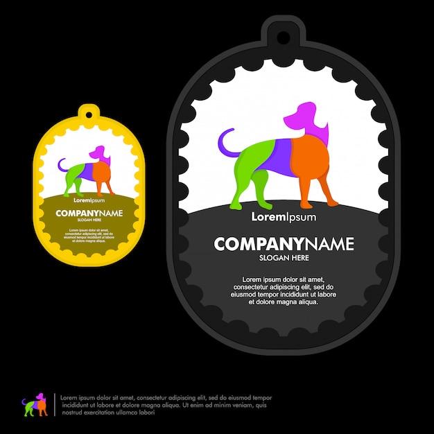 Modelo de vetor de logotipo de cão Vetor Premium