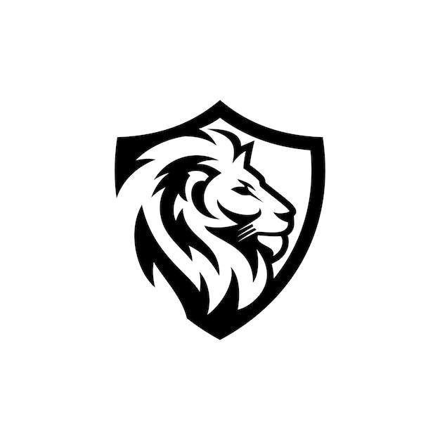Modelo de vetor de logotipo de leão Vetor Premium