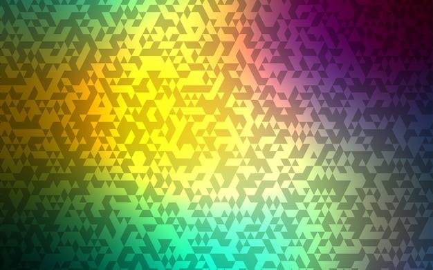 Modelo de vetor de luz azul, verde com cristais, triângulos. Vetor Premium