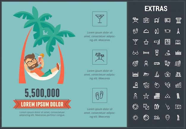 Modelo de viagens infográfico, elementos e ícones Vetor Premium