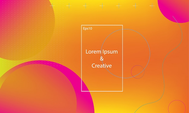 Modelo de web de página de aterragem iridescente geométrica. Vetor Premium