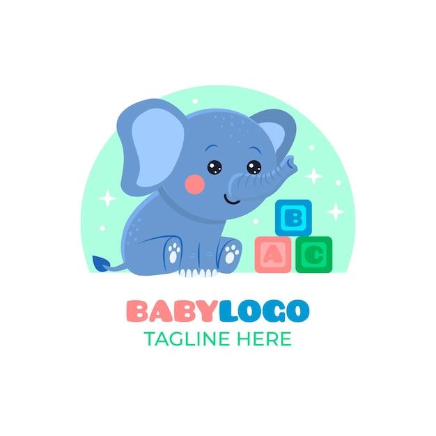 Modelo detalhado do logotipo do bebê Vetor grátis