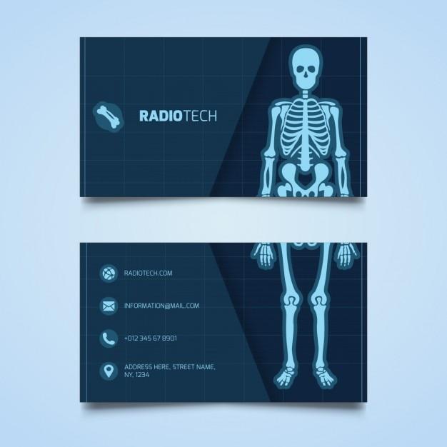 Modelo do cartão de radiologia Vetor grátis