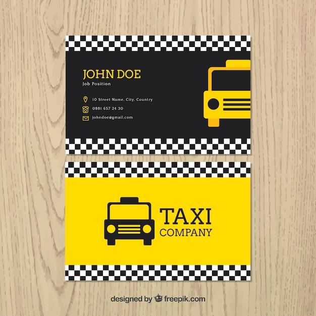Modelo do cartão de táxi Vetor grátis