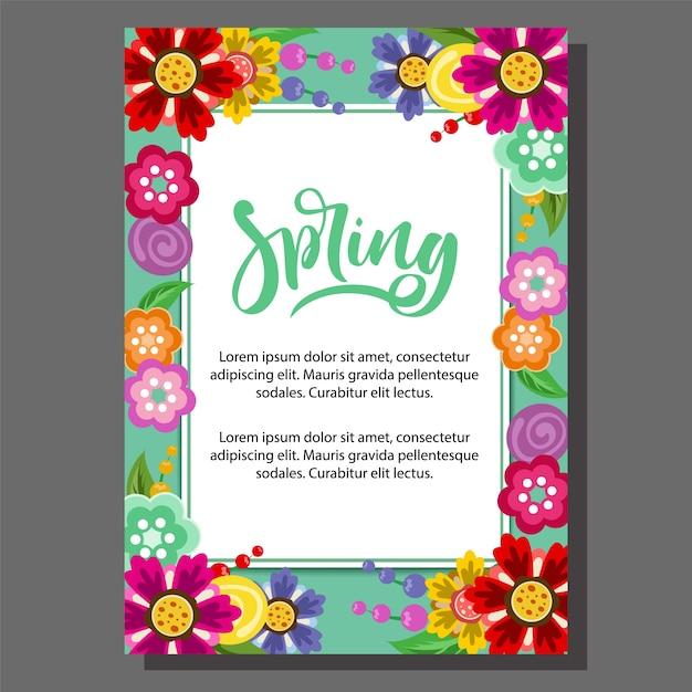Modelo Do Cartaz Da Primavera Das Flores Baixar Vetores