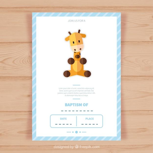 Modelo do convite cartão do baptismo Vetor Premium